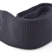 Grey knit tie by Andrew's Ties