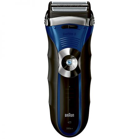 The Braun 380s wet or dry cordless shaver